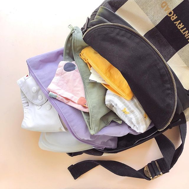 New blog post up on my zero waste diaper bag 👶🏻. Using cloth at home is one thing, but I was too nervous to go out with them too 😬. Turns out it's not much different! #zerowaste #zerowastebaby