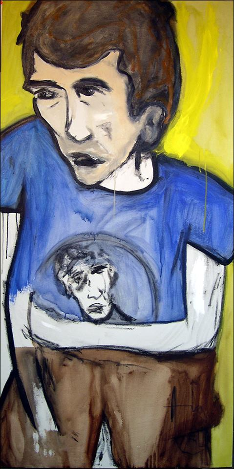 """""""Blue T"""" (2005), oil on canvas, 70"""" x 34"""""""