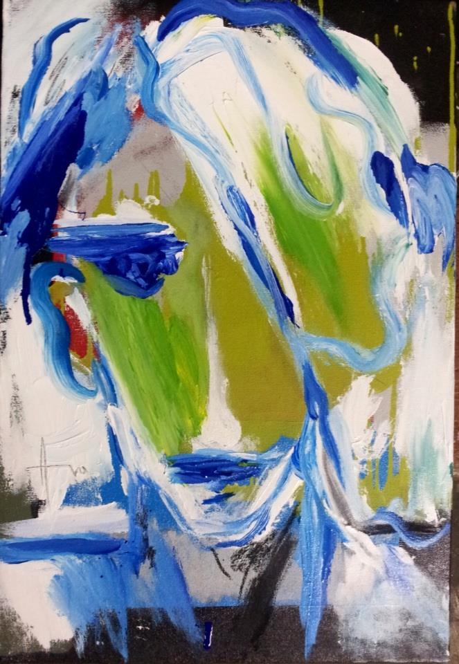 """""""Earliest Tomorrow"""" (2015), acrylic on canvas, 25"""" x 17"""""""
