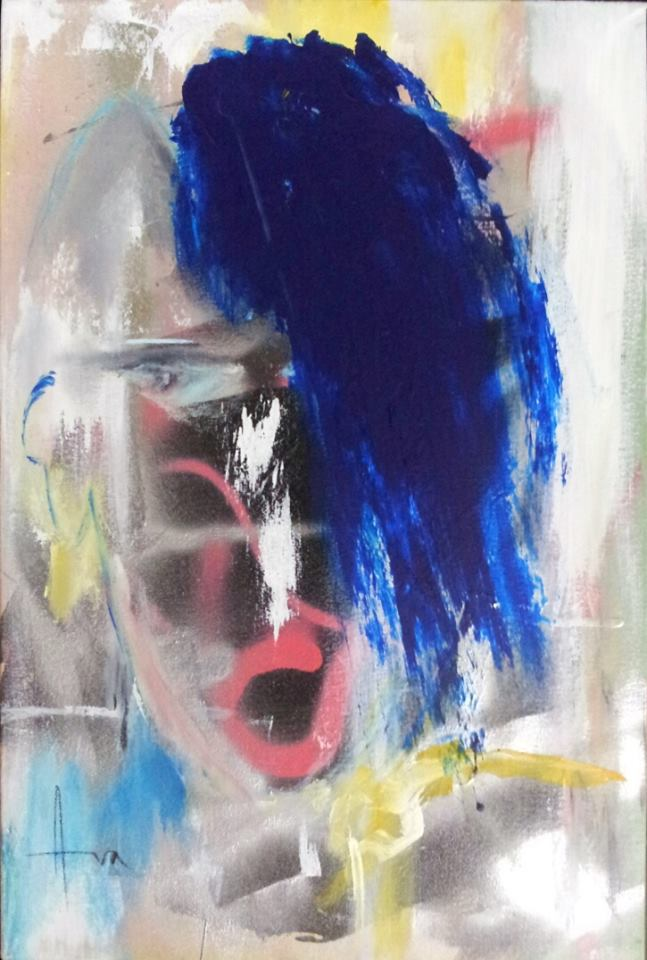 """""""Gasping in Awe"""" (2015), acrylic on canvas, 24"""" x 16"""""""
