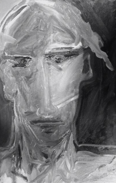 Untitled, charcoal on paper