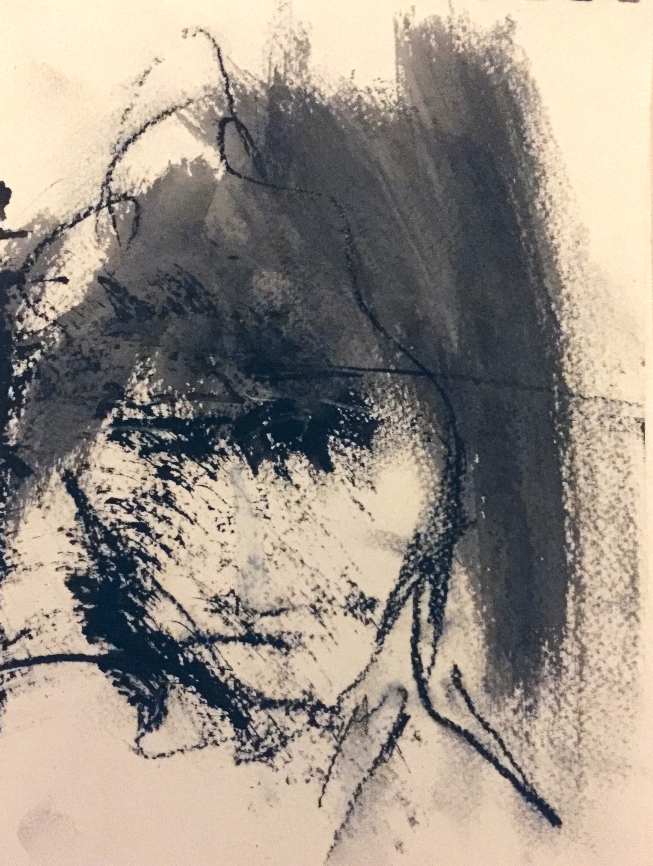 """""""Witness Series"""" (2015), charcoal on paper, 9.5"""" x 7"""""""