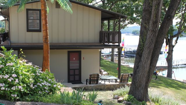 cabin 1 is in the first building as you come into the resort.