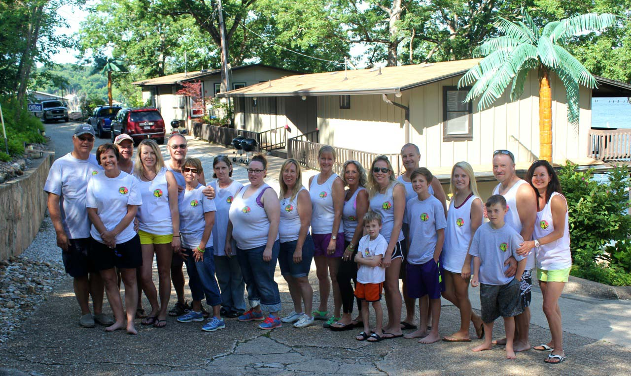 """summer 2014 the extended breezy point family getting ready to go to the """"ee"""" community party."""