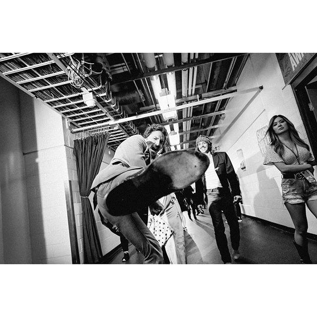 @midland backstage at the 2019 @cmt music awards.