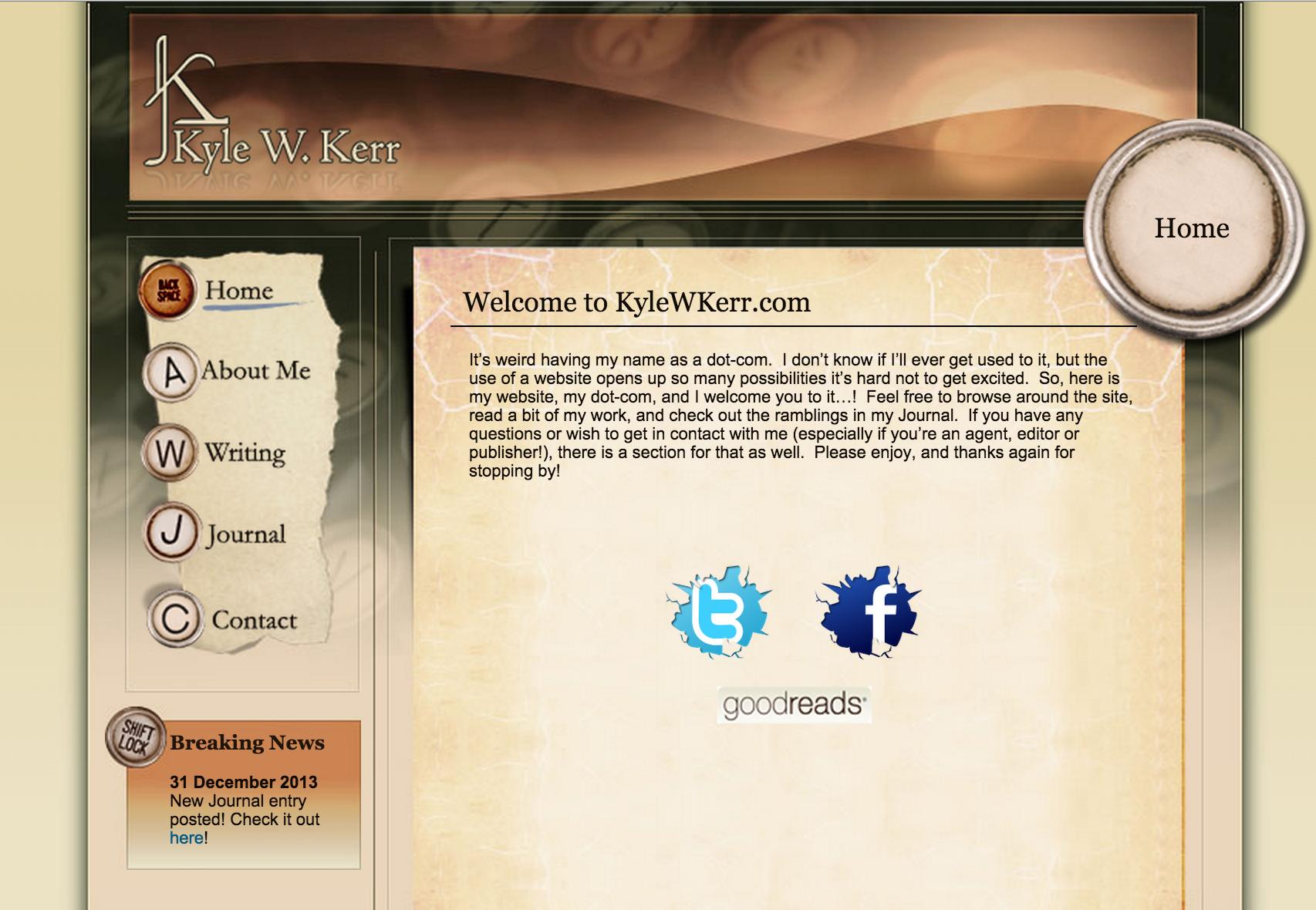 The original kylewkerr.com, circa 2007!