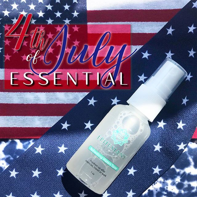Grab this 4th of July Essential today! 🇺🇸 Our all natural Refreshing Waters Toner is PERFECT to beat this Summer heat by keeping your skin hydrated, moisturized, and full of it's essential vitamins!❤️💙 #MadeWithWhatMatters