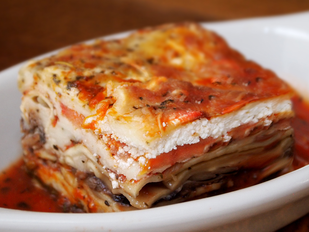 VEGETARIAN LASAGNE- so delicious!