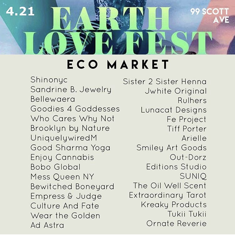 Sandrine B. Jewelry was featured at the Earth Love Fest celebrating Mother's Earth on April 21, 2019, Click on photo for more information