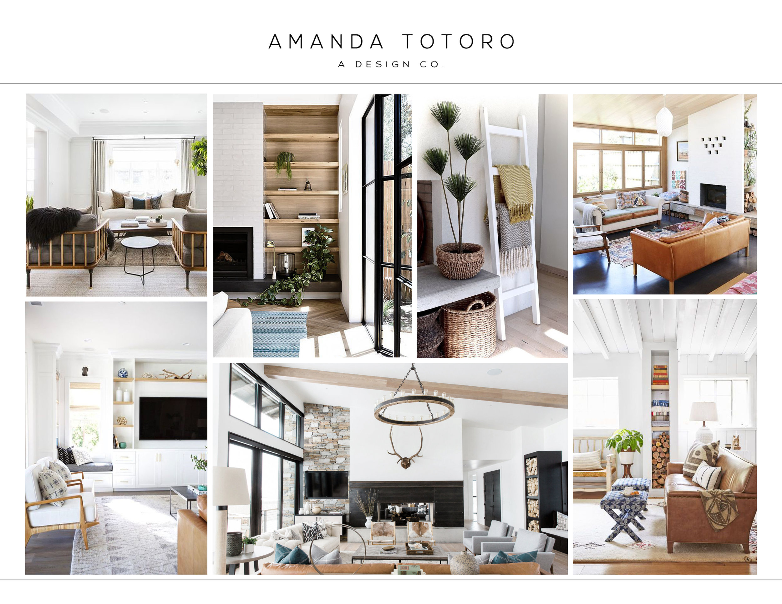 1. CONCEPT BOARD - After viewing a space and listening to client's wants and needs, I'll create a concept board to begin the project.