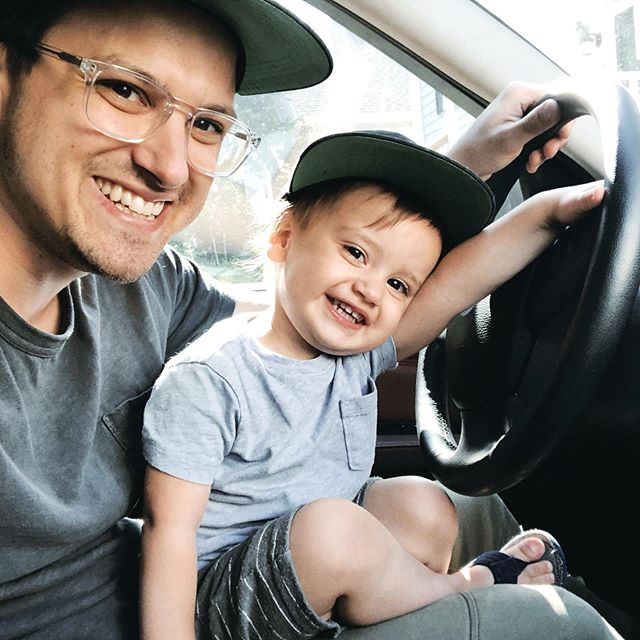 Happy Father's Day, @briantotoro!! Thanks for being the Best Dad and showing Miles so much love everyday! I think it's fair to say that Miles is as obsessed with you as much as he is your new car, and that's saying something!! 😂 You're our favorite! We love you! ❤️