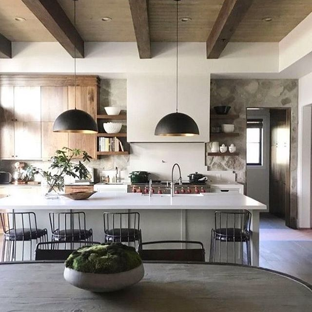 Some inspiration for all the kitchen remodels I've been working on lately. If you didn't know, it's apparently the season to gut your whole kitchen and start fresh! ✨ (Found on Pinterest: source unknown)
