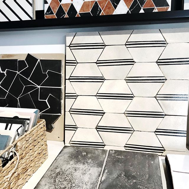 Very into this striped hexagon tile...
