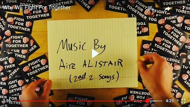 """A special """"shout out"""" to our friends at @fightfortogether good people and they just showcases a couple songs on the newest VLOG"""