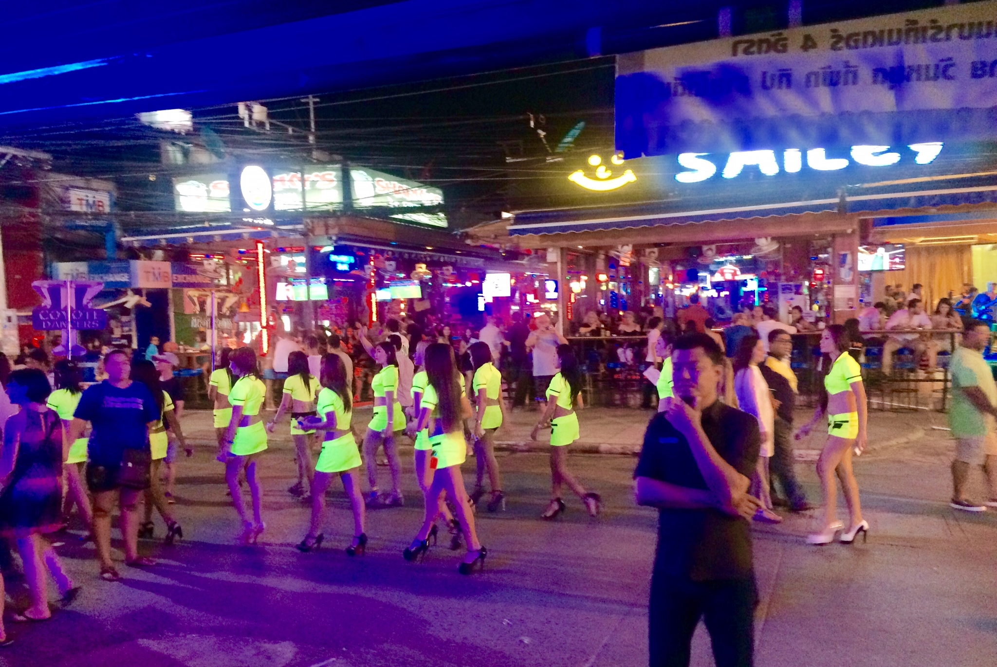 The scene on Bangla Road