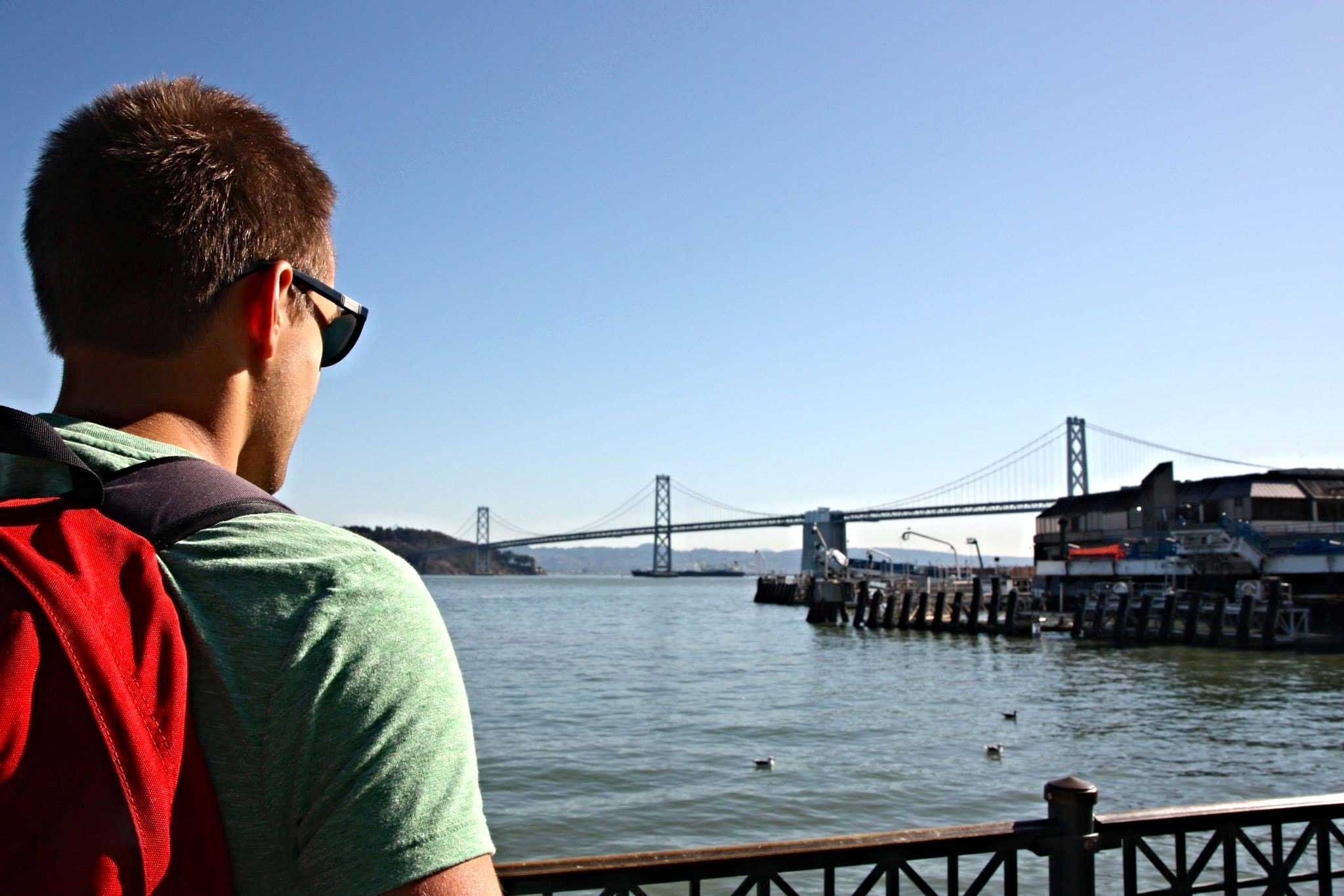 The view from outside the Ferry Building