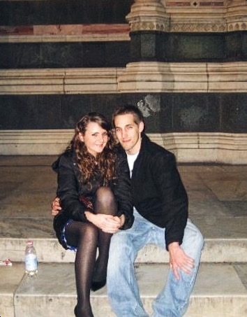 Tim and I on the steps of the Duomo, January 2008