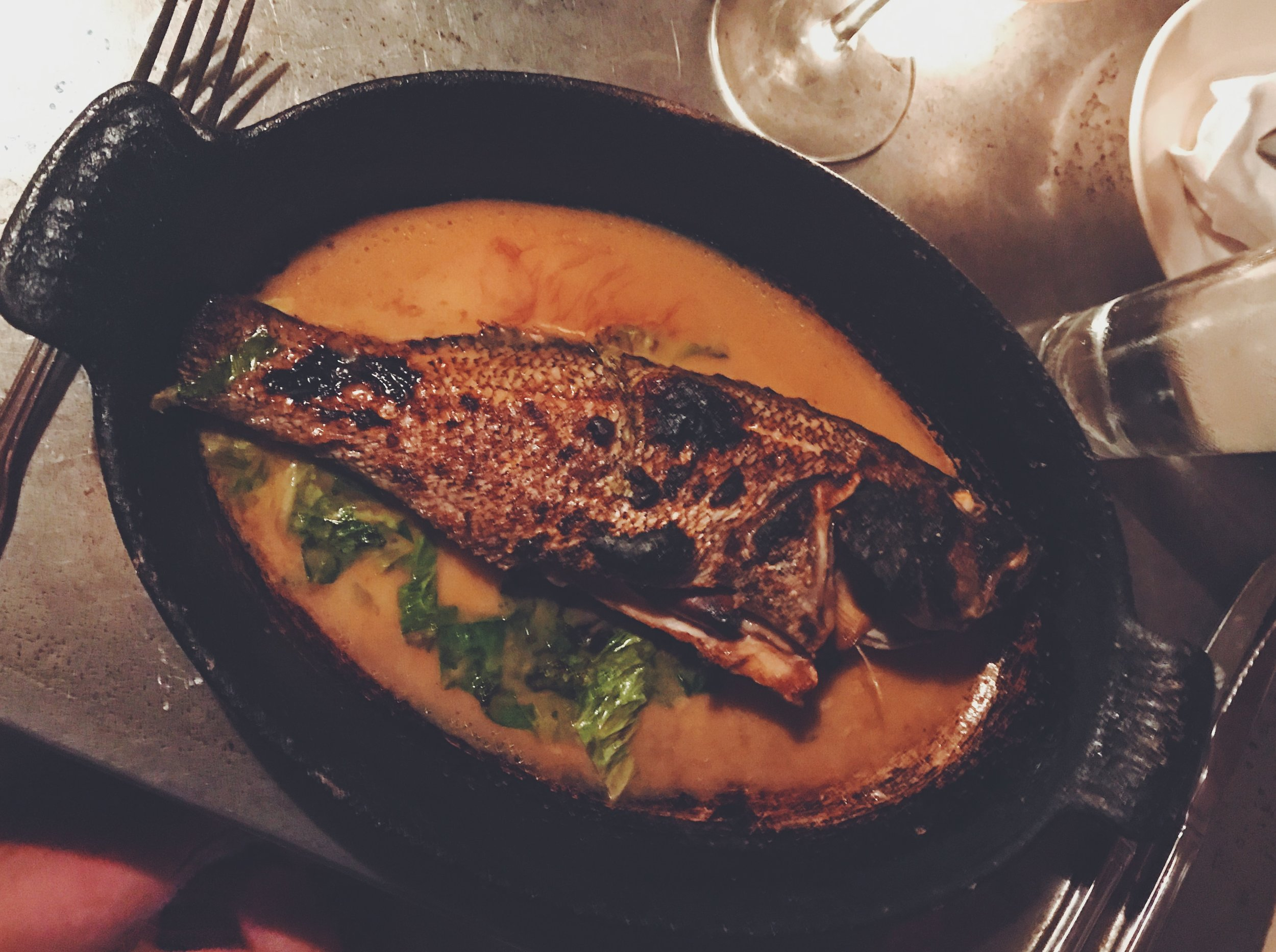 Whole Black Bass at Fore Street