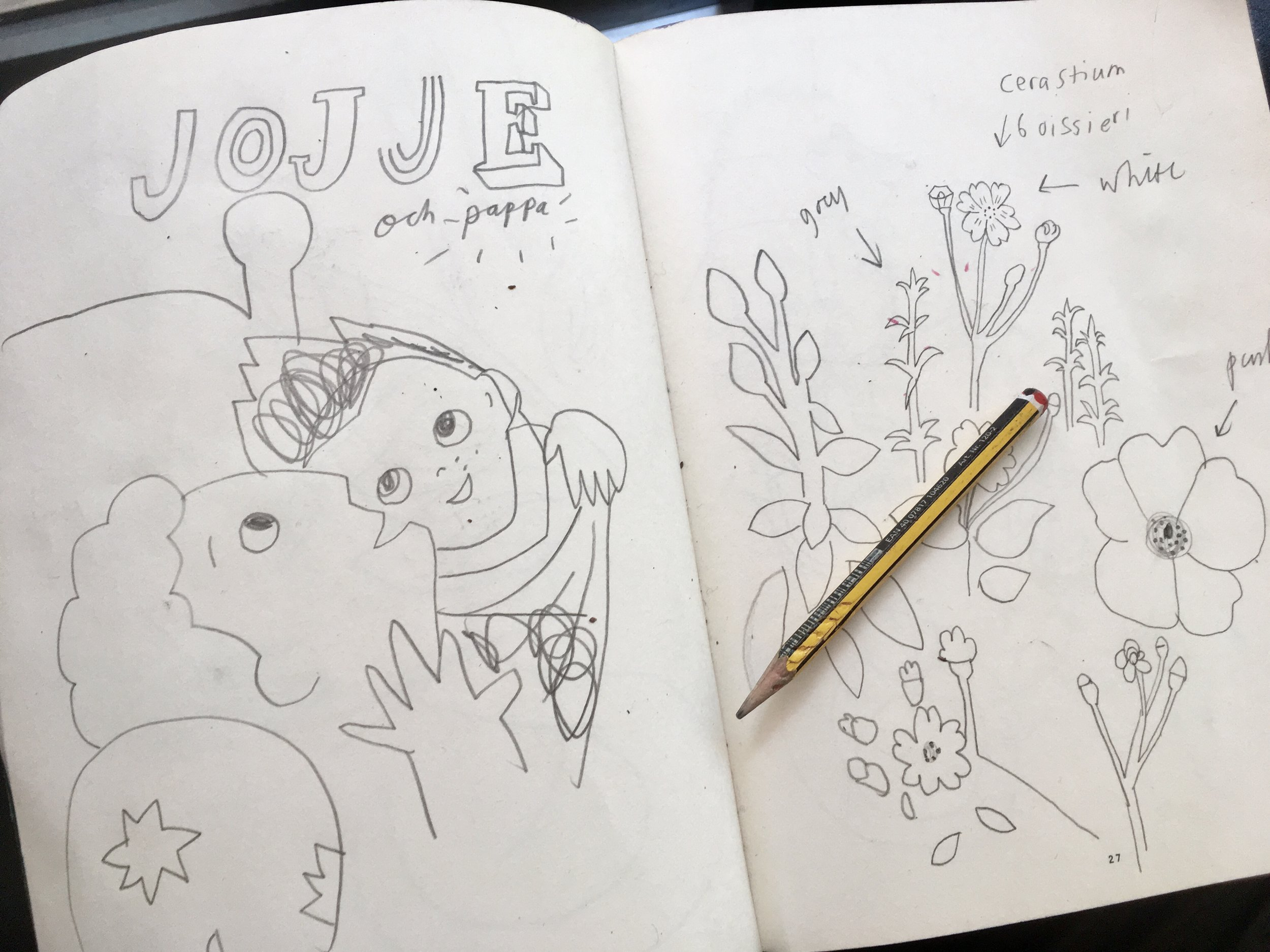 JOJJE - Ellen Karlsson's book illustrated by I, out now, in Swedish Shops...Read more here