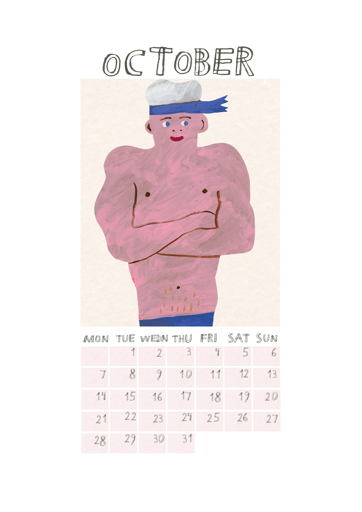 A CELEBRATION OF THE MALE PHYSIQUE - I painted a 12 muscle men for the 2019 Walkyland wall calendar. You can purchase in my web shopWhen not working on commissions I like to paint the things no one ever pays me to paint, such as Ducks, Beer bottle and Half naked men. Being an illustrator means you can draw anything and everything. It's the best job in the world.