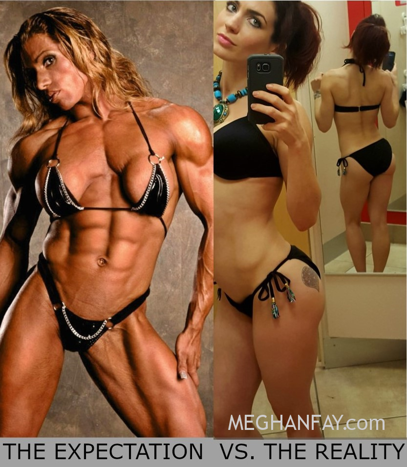 expectation reality women lift heavy