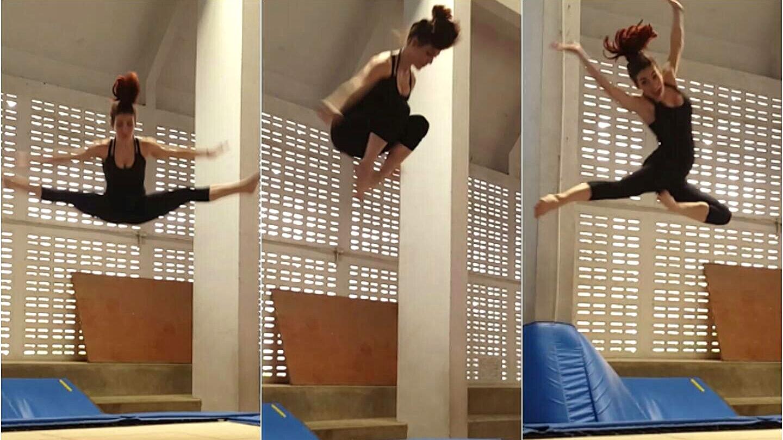 trampoline childlike exercise