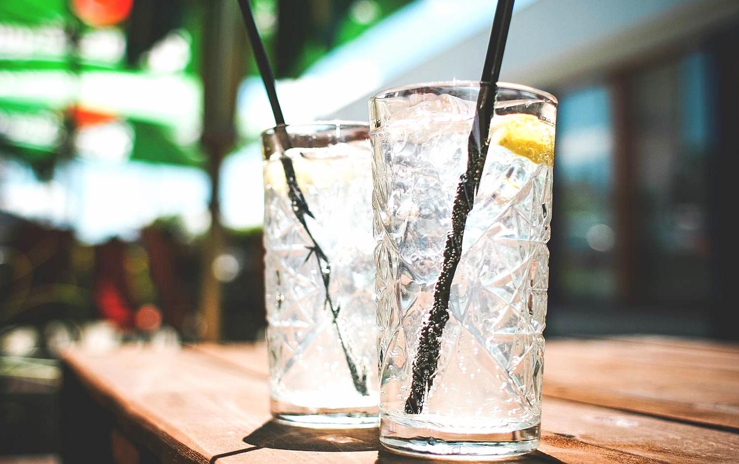 fresh lemon water