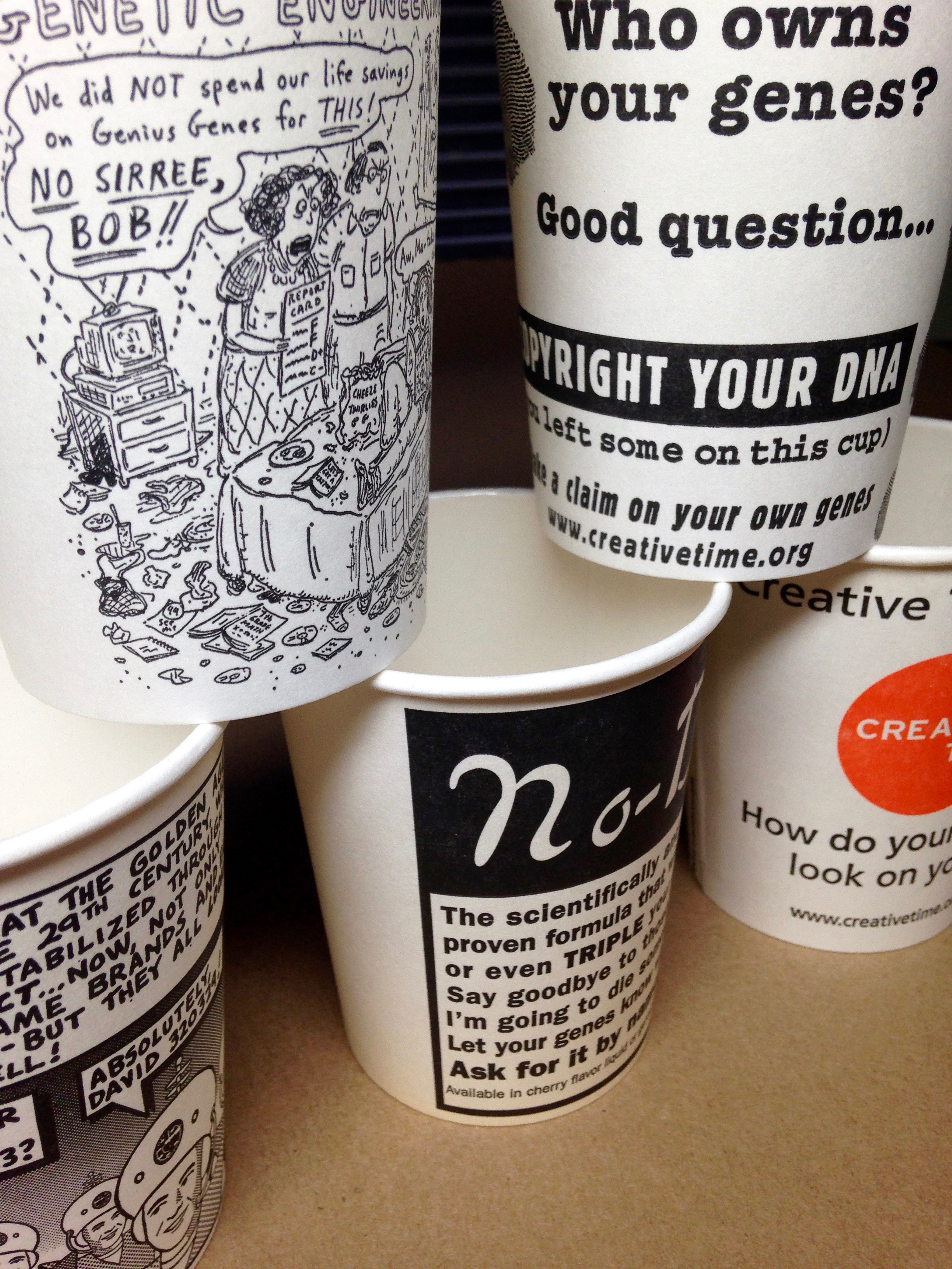 DNAids cups by Creative Time