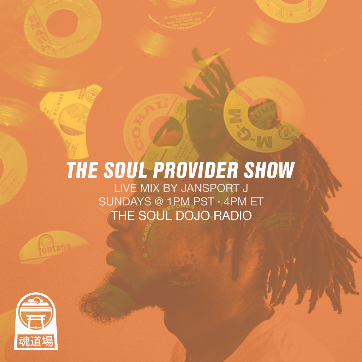 The Soul Provider Show - Jansport J hits us with a weekly dose of soul and funk in this mix series. Premiers every Sunday @ 1pm PST on The Soul Dojo Radio.