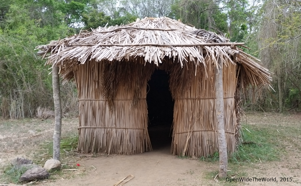 replica of a Taíno  caney  (Tibes, Puerto Rico)