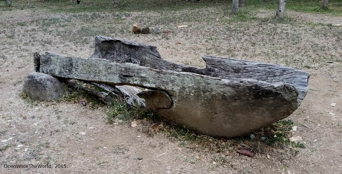 remains of a Taíno  canoa  (Tibes, Puerto Rico)