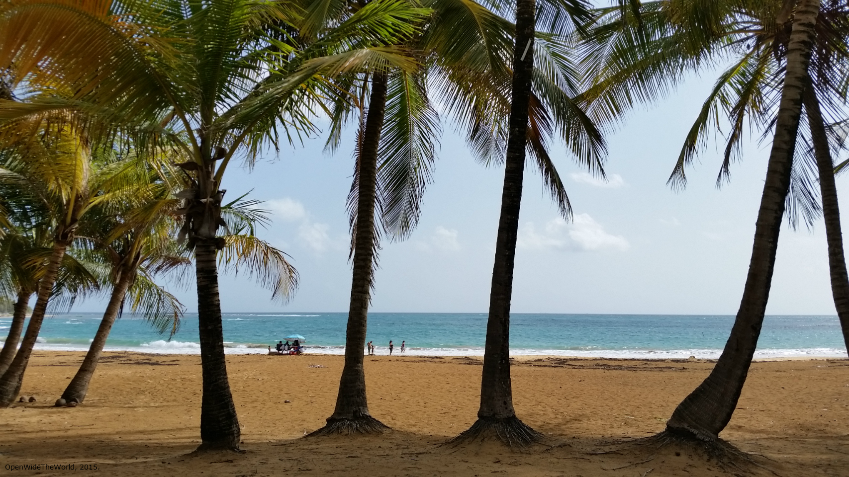 Mid-afternoon, and this gorgeous palm-lined beach is almost deserted. Playa Azul, Luquillo, Puerto Rico
