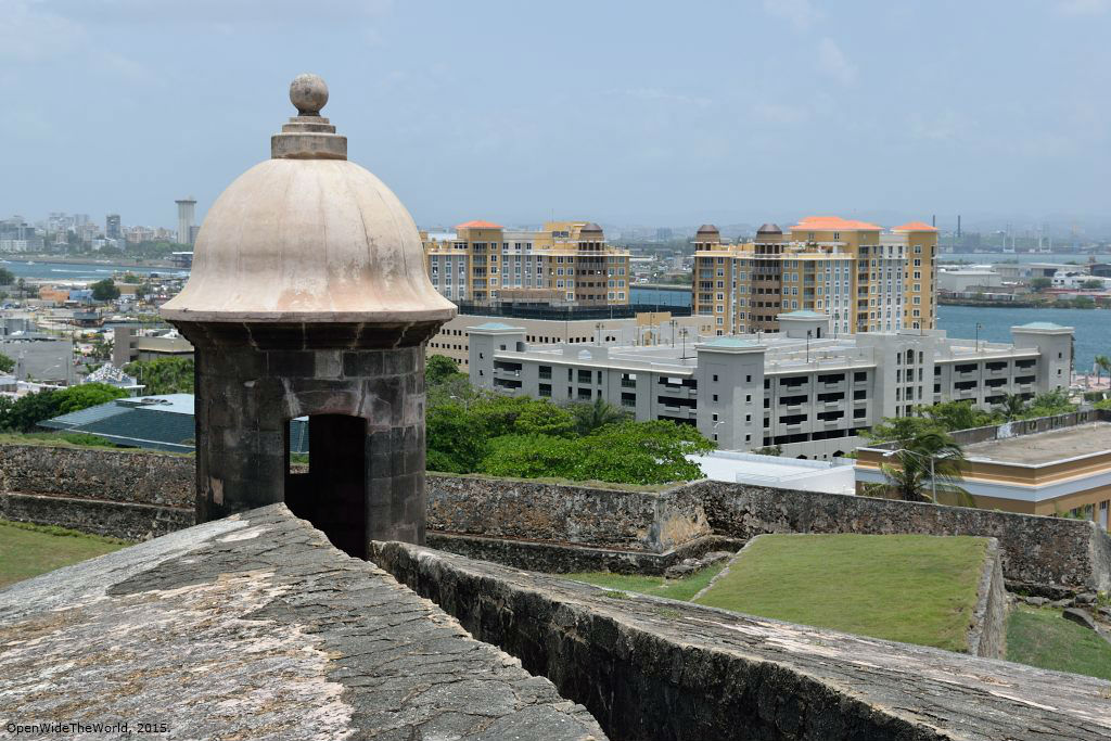 This 400-year old sentry tower once guarded the walled city of San Juan. Today it keeps a lonely lookout over modern San Juan City and its luxury highrise condos and resorts.