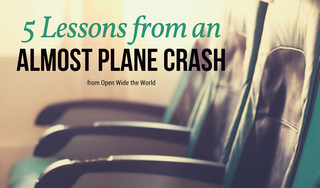 Modern air travel can feel full of frustrations. Sometimes all it takes is a brush with death to put things into perspective. Check out 5 things I learned when it was all about to come to an end. #planecrash #openwidetheworld