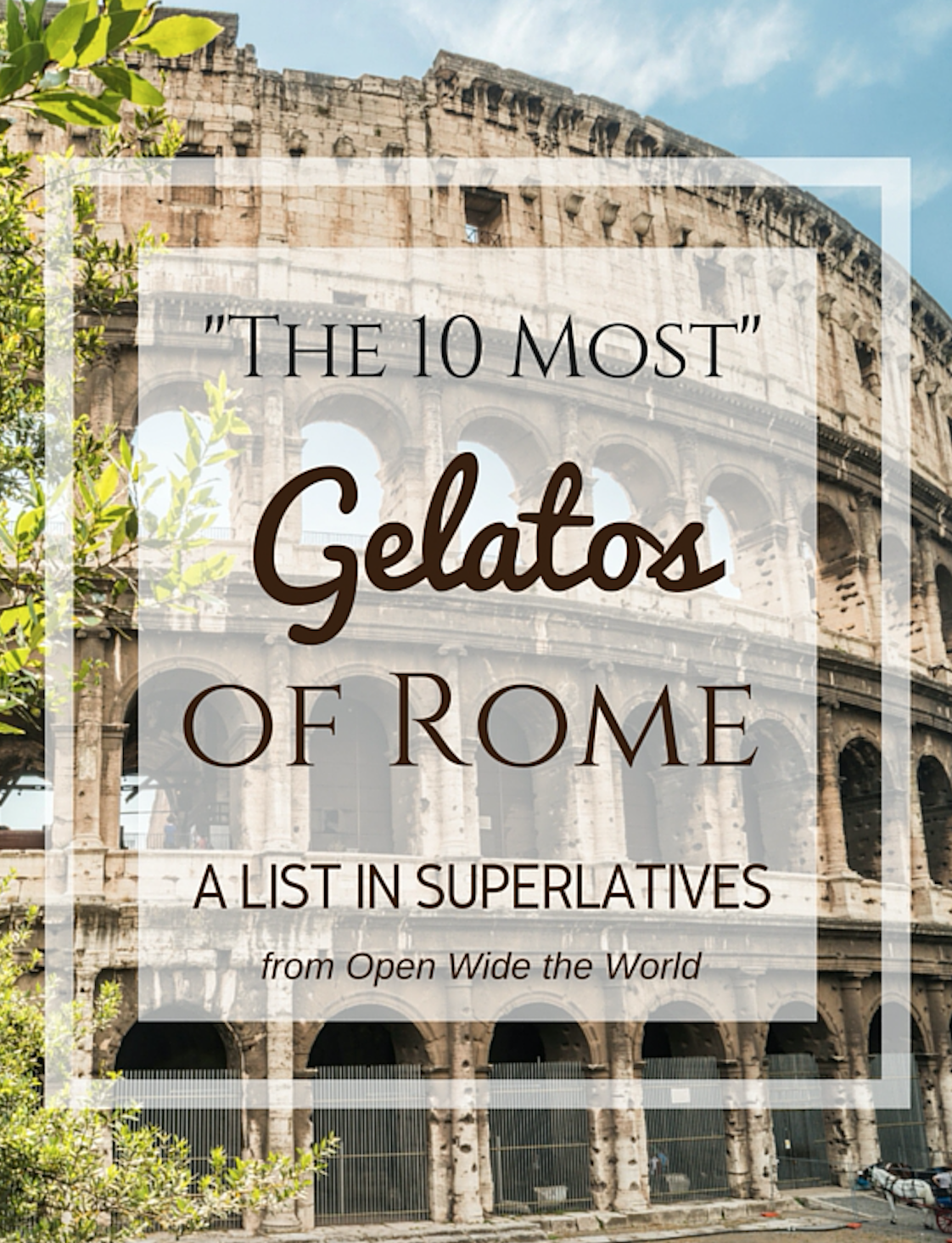 """Did you know? Italy has one gelateria for every 3,000 residents. That equates to more than 850 gelaterias in Rome alone!  So,where does a first time visitor to the Eternal City even begin to take on the modern empire that is gelato? With our """"10 Most..."""" Gelatos of Rome list!"""
