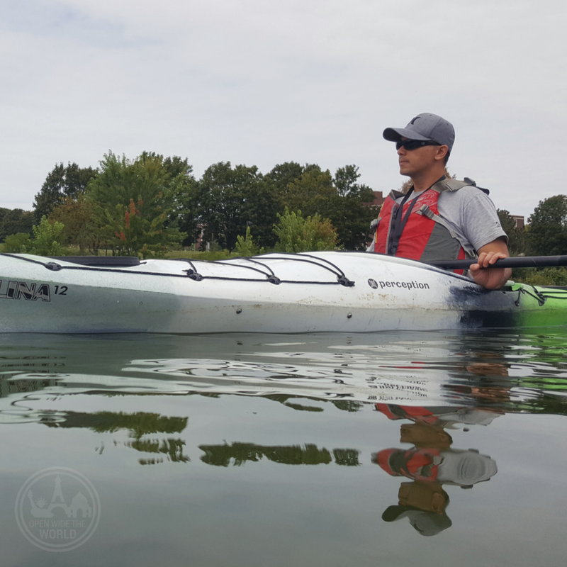 Kayaking the Fox River, just one of the reasons why Aurora is the ideal destination for Chicago urbanites looking to spend a day outside the City. #hipster #openwidetheworld