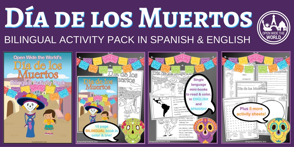 For Dual Language programs, Spanish classes, English-only elementary classrooms, and homeschooling families, this BILINGUAL activity pack introduces children to the exciting and intriguing holiday of ¡Día de los Muertos!