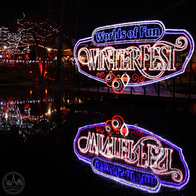 Millions of holiday lights in all shapes, sizes and colors, adorn Worlds of Fun during WinterFest. -from Open Wide the World