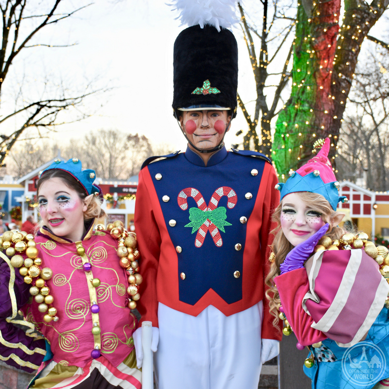 Holiday characters come to life at Worlds of Fun WinterFest. -from Open Wide the World