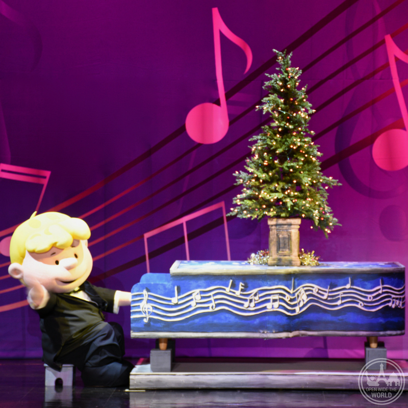 It's just not Christmas without the Peanuts gang! Schroeder and his toy piano at WinterFest at Worlds of Fun -from Open Wide the World
