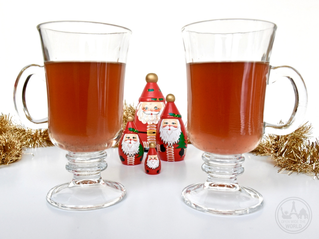 Sbiten from Russia.If you find yourself at home this holiday season, bring the world travel spirit to you —with five more festive Christmas cocktail recipes from around the world. Grab a shaker and join the Christmas cocktails holiday party! #cocktails #openwidetheworld