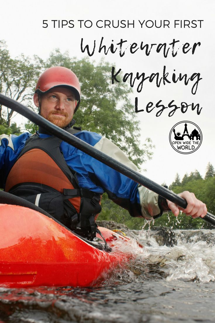 Whitewater kayaking is an extremely challenging sport for beginners. But it can be even more rewarding, if you're mentally and physically prepared. Check out our tips to make the most of beginner's lessons in whitewater kayaking! #kayaking #forbeginners #kayakingtips #openwidetheworld