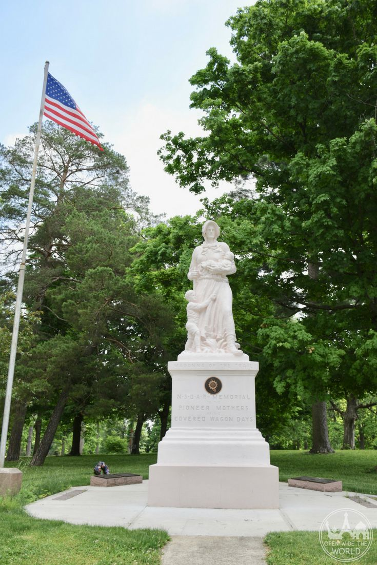 A series of 12 Madonna of the Trail statues can be found along the route from Maryland to California; this one in Richmond.