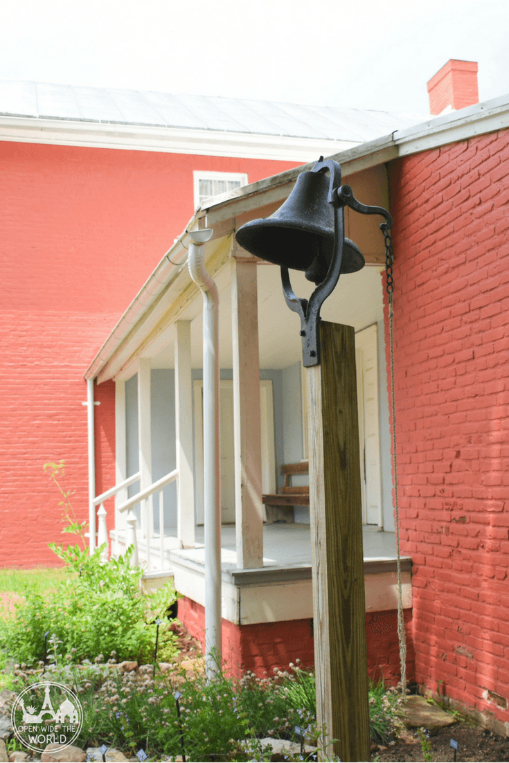 Installing a backyard bell meant that Catharine Coffin could easily notify Levi of trouble, even if he were at work in his mercantile or mill.