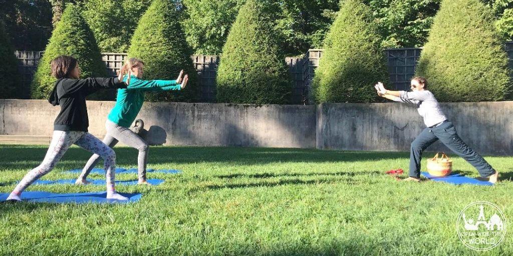 Allerton Park Family Campout morning yoga