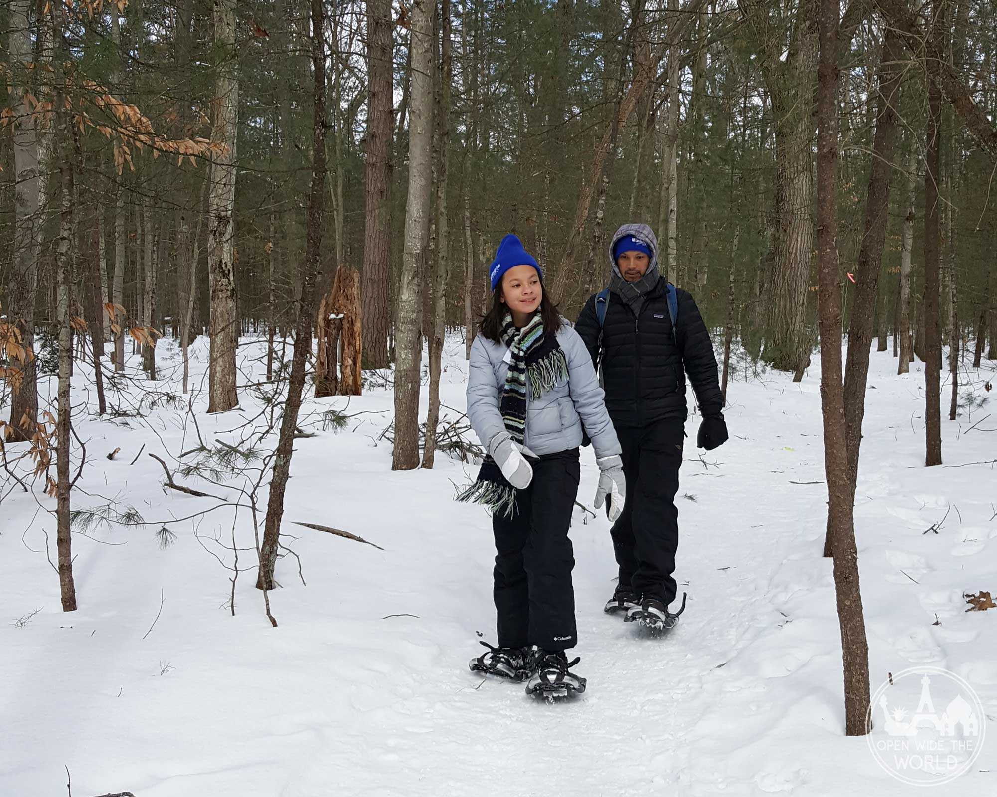 Muskegon Winter Sports Complex's miles of varied snowshoe trails mean there's one for every type of snowshoer! A fun winter activity in West Michigan. #snowshoeing #openwidetheworld