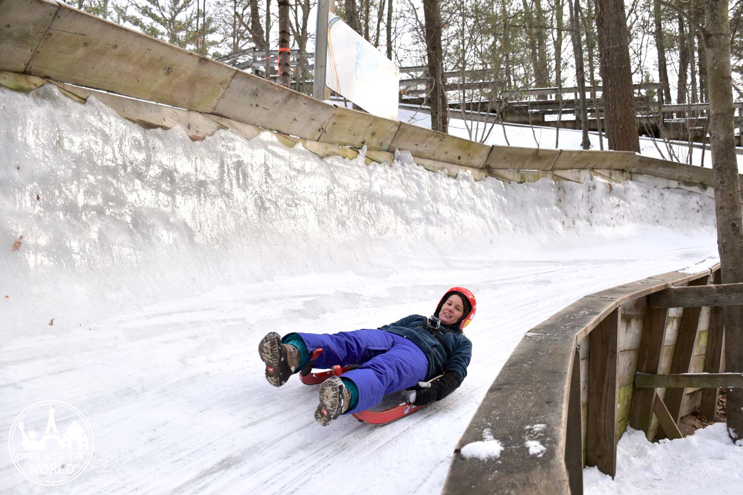 Luge run at Muskegon Winter Sports Complex, Michigan. #luge #openwidetheworld