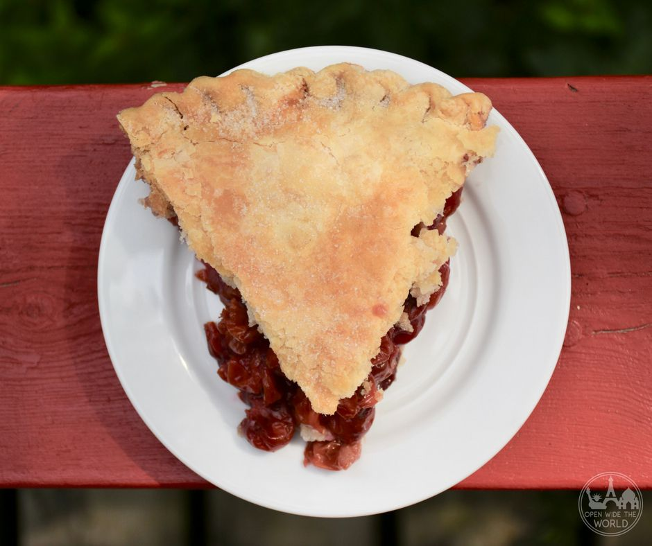 Sweetie Pies, Door County, Wisconsin. We love camping in Door County, Wisconsin. And we love Door County cherry pie. Find out what happened one summer when we took Door County's best cherry pies to our favorite Door County campground! #doorcounty #cherrypie #openwidetheworld
