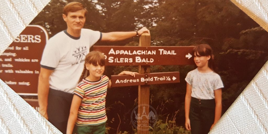 Visiting my parents this weekend was a fun chance to reminisce about early hikes together. Circa early 1980s.