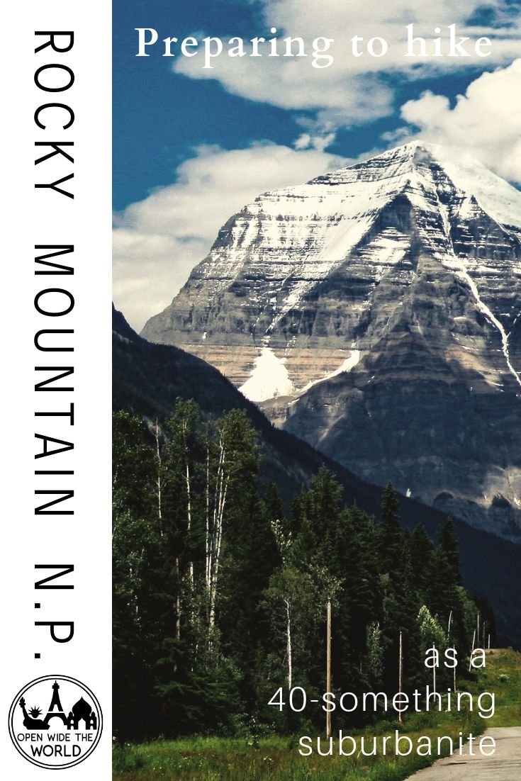 A decade away from mountains, I suddenly find myself needing to get in shape for hiking again. Follow along as I train to hike Rocky Mountain National Park. Get inspired to prepare for your next hike, too! #hiking #openwidetheworld